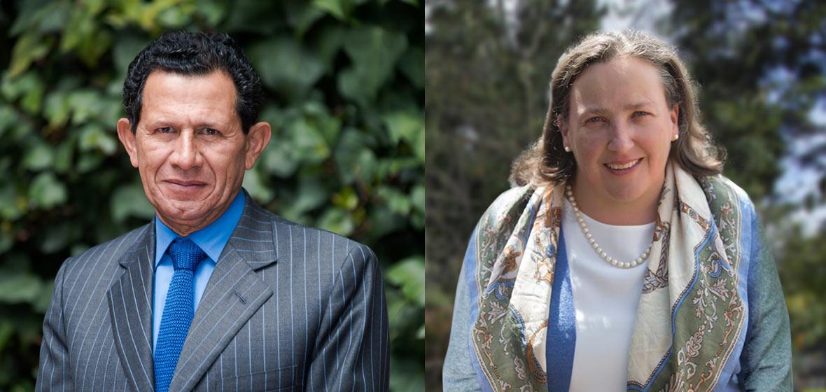 Eduardo Pacheco y Paula Samper