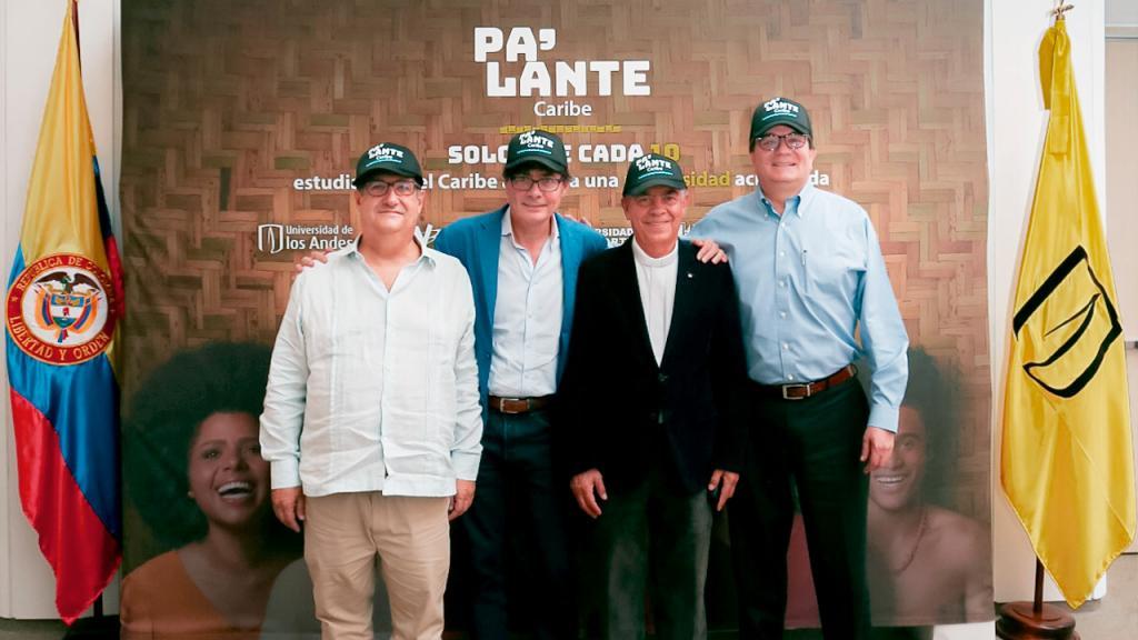Los rectores de la alianza Pa'lante Caribe frente a la Sede Caribe de la Universidad de los Andes