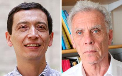Gonzalo Vargas, profesor del Cider, y Francisco Panizza, investigador del Centro para América Latina y el Caribe de la London School of Economics.