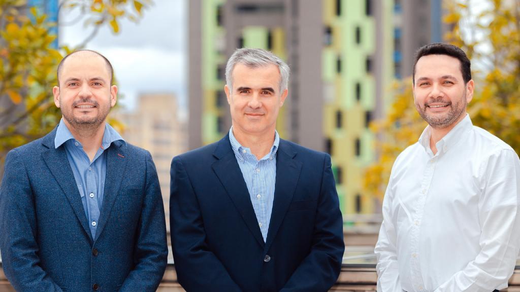 Retrato de tres profesores de Los Andes