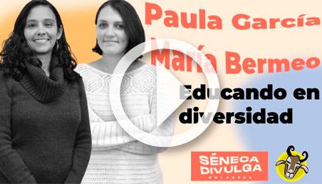 Paula García y María José Bermeo en Séneca Divulga