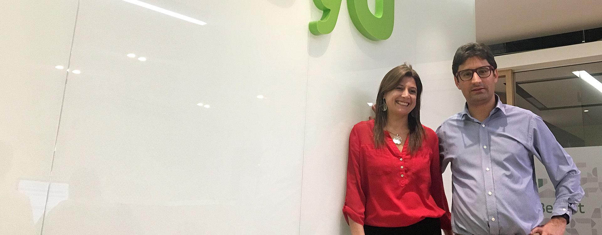 José Fernando Vélez y Ana María Sandoval, de PayU, donantes de Quiero Estudiar