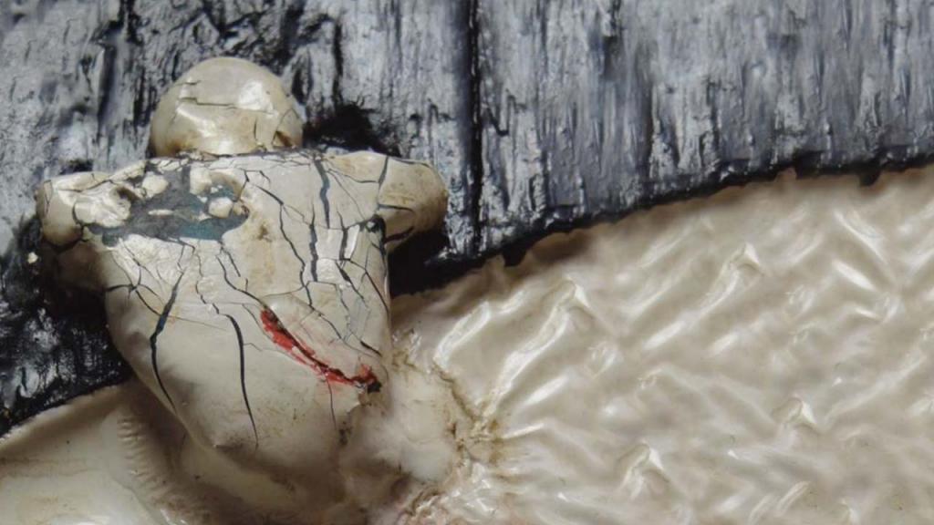 Imagen abstracta de un cuerpo fragmentado.