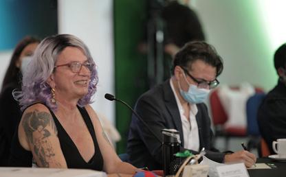 Alejandro Gaviria y Brigitte Baptiste
