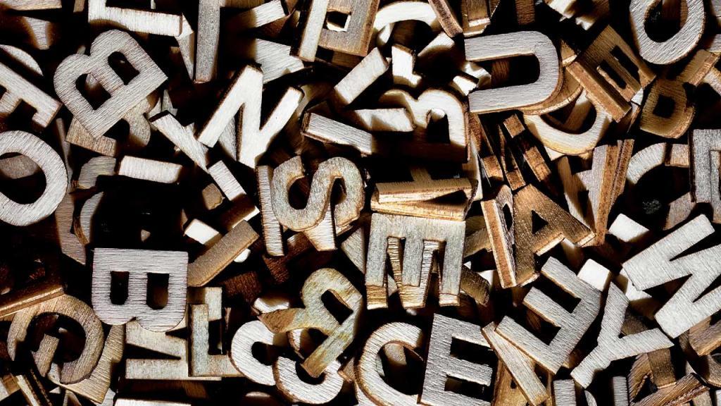 Foto de letras en madera
