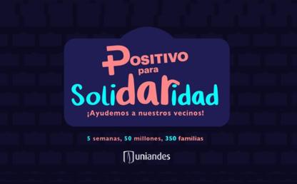 Imagen con logo de la campaña 'Positivo para solidaridad'