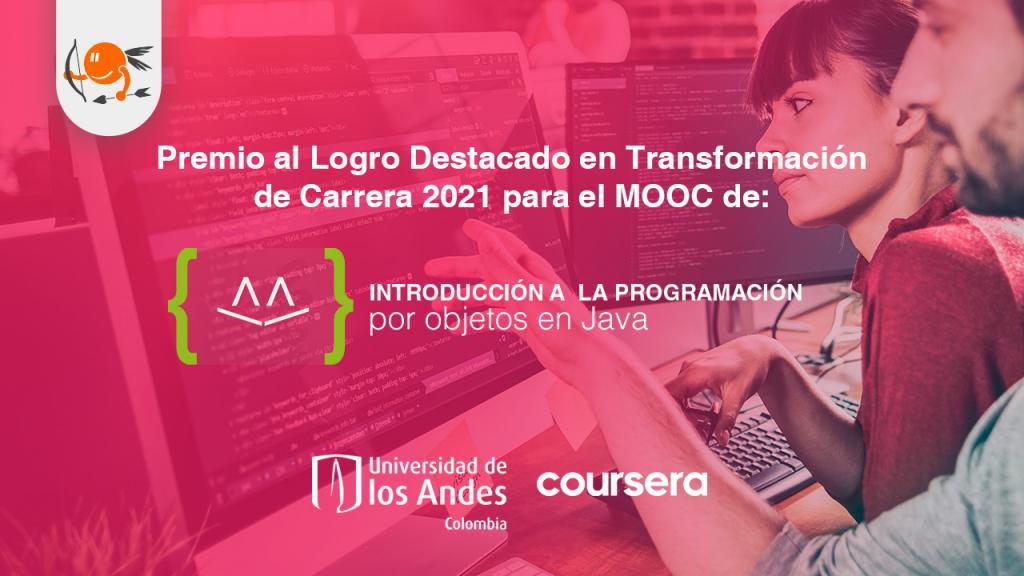 Premio de 'Transformación de Carrera' al MOOC de Java