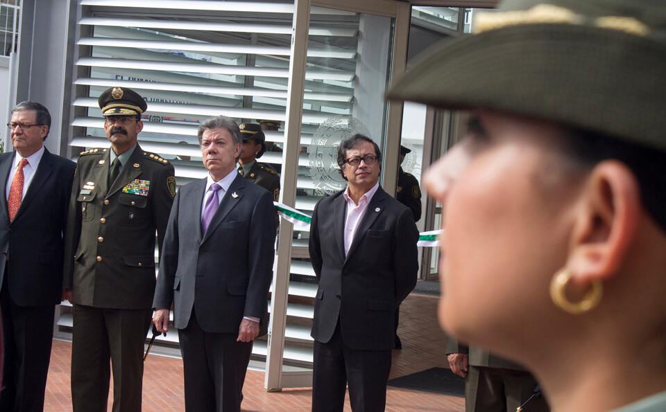 presidente Juan Manuel Santos y Alcalde Gustavo Petro