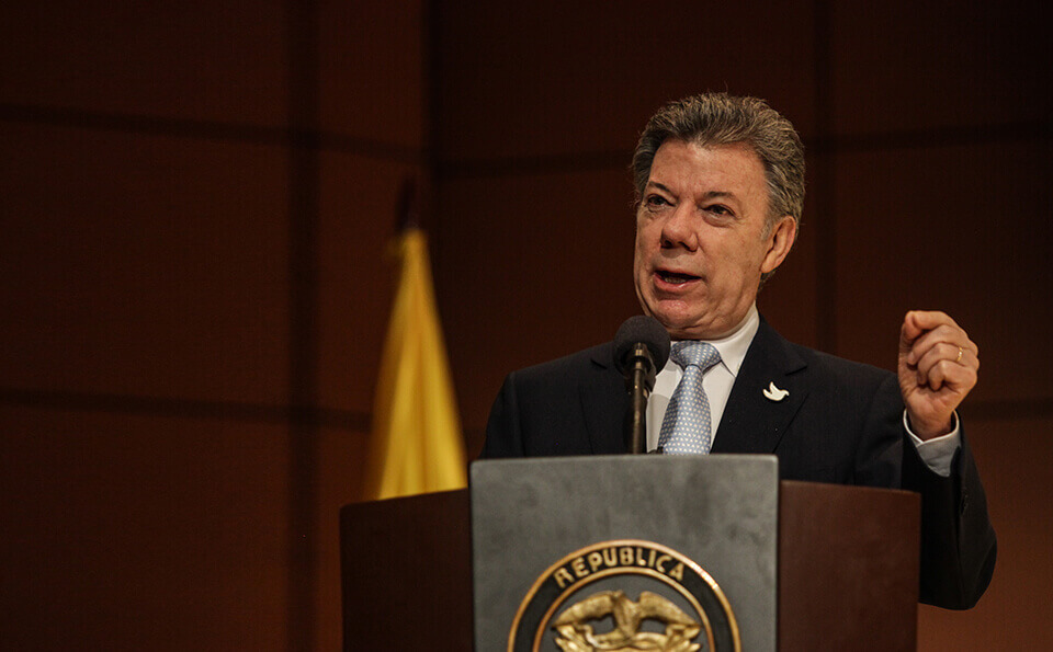 Juan Manuel Santos Calderón recibe premio nobel de paz