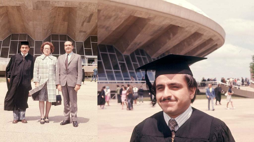 Foto de Luis Enrique García en su Grado de Master of Science en la Universidad de Illinois en Junio 8 de 1972