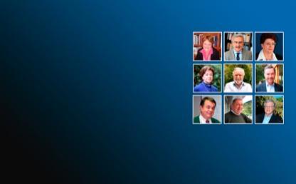foto de nueve profesores de Los Andes que fueron reconocidos como investigadores emeritos