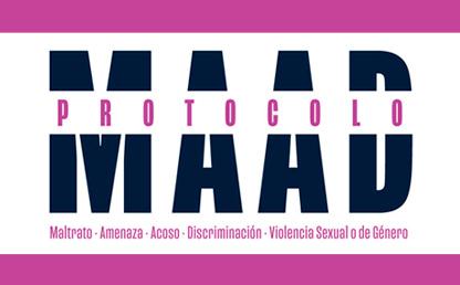 """Diseño tipográfico que dice """"Protocolo MAAD"""""""