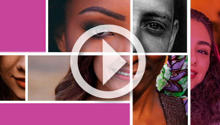Collage con fragmentos de caras de gente diversa