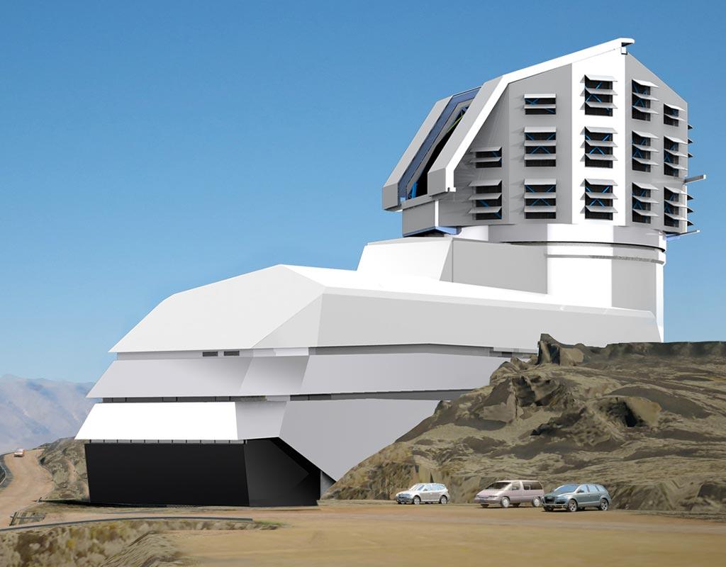 Render del observatorio que alojará al telescopio LSST que se construye en Chile. Foto tomada de la página: https://www.lsst.org/