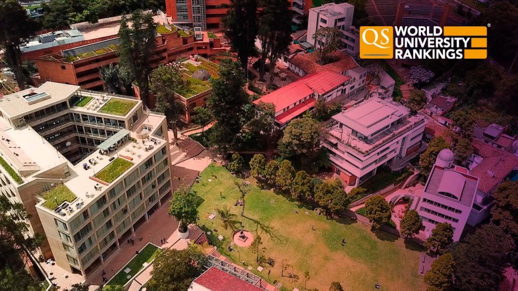 Fotografía aérea de la Universidad de los Andes.
