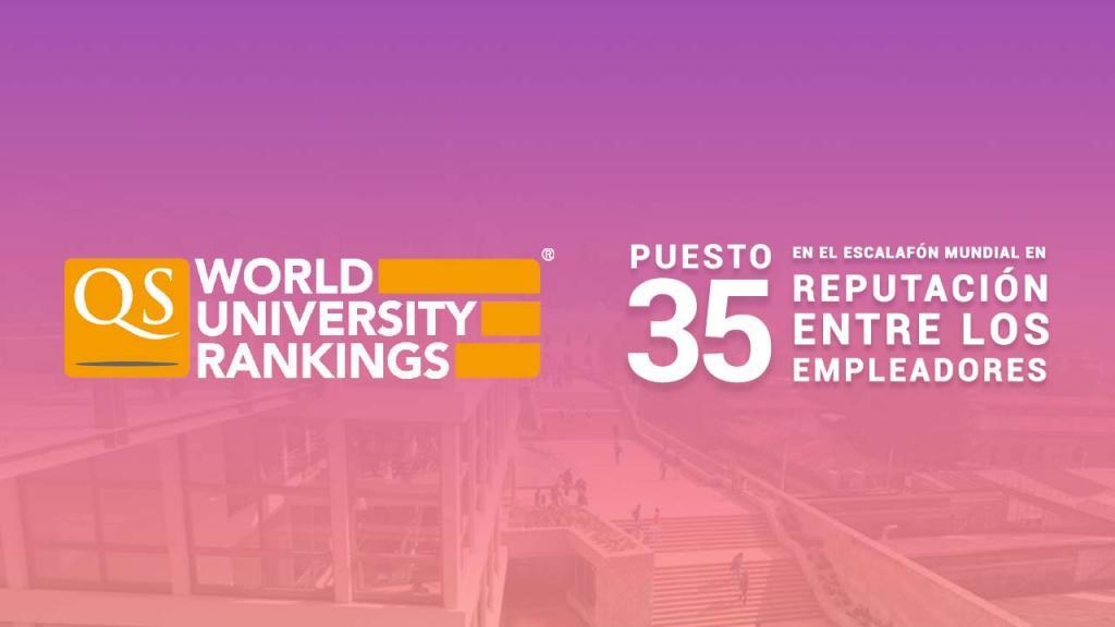 Pieza gráfica que dice puesto 35 en reputación entre los empleadores.