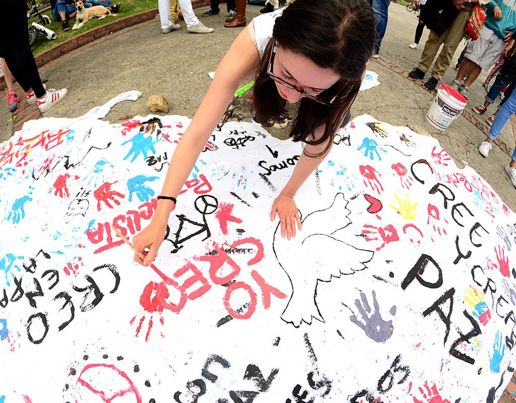 Manifestaciones sociales por la paz