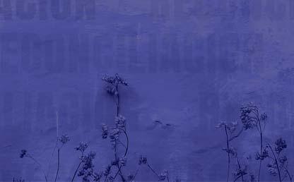 Imagen morada con plantas.