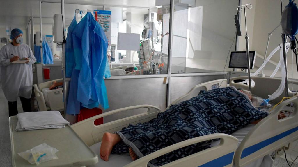 Foto de un cuarto de hospital en Colombia.
