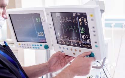 Foto de un monitor médico en un hospital