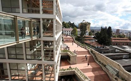 Foto panorámica del campus de Uniandes