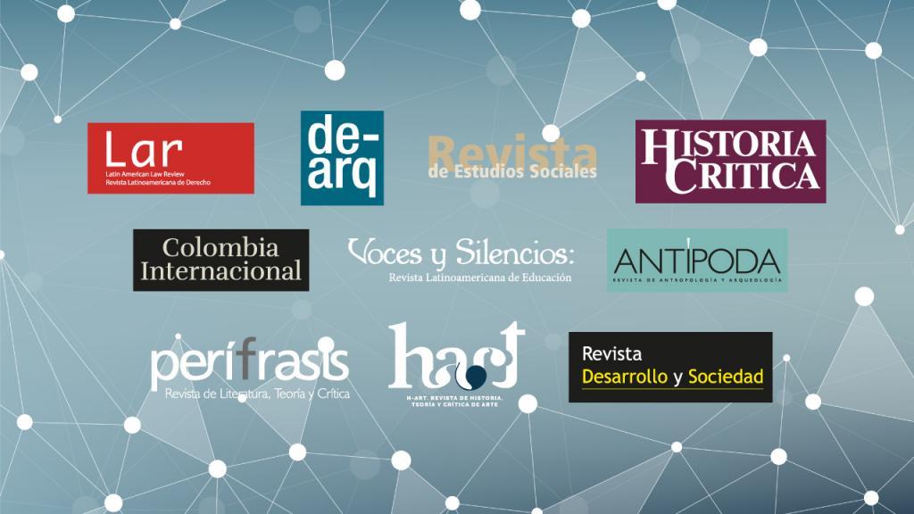 Imagen de los logos de las revistas de la universidad de los Andes