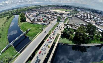 Foto panorámica del Río Bogotá