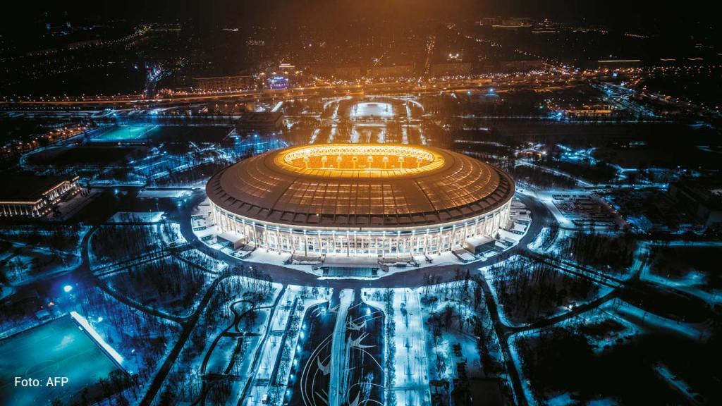 Imagen del Estadio Luzhniki en Moscú