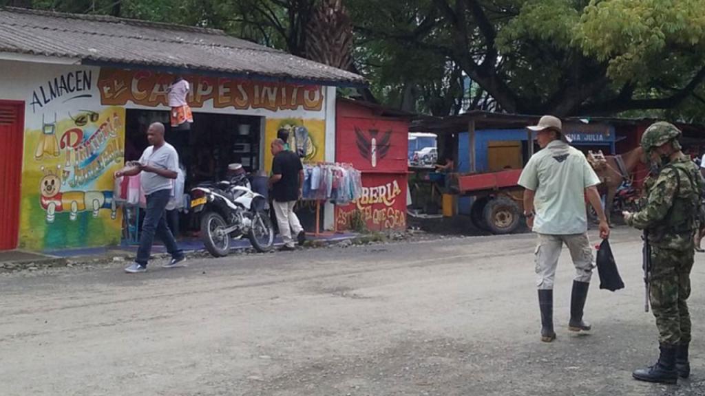 Calle del muncipio de Belen de Vajirá