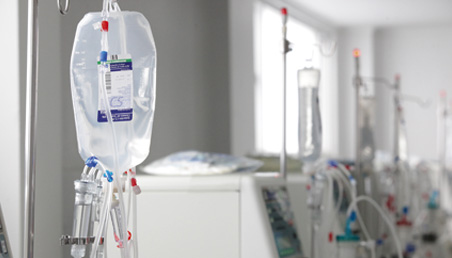 Suero clínico en hospital