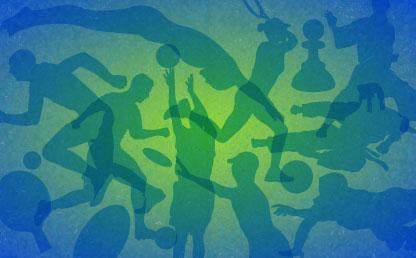 College de dibujos que representan distintas disciplinas deportivas.