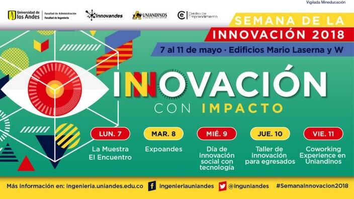 Cartel promocional Semana de la Innovación 2018