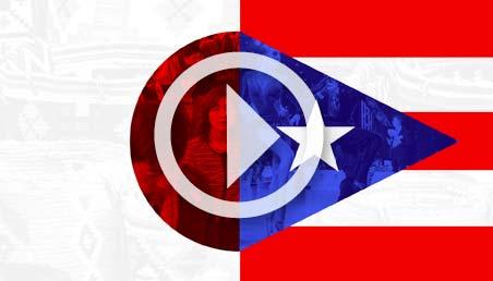 Banderas de los países de Japón y Puerto Rico.
