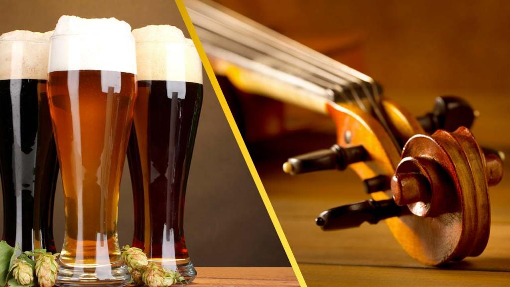 Imagen de dos tipos de cerveza, para ejemplificar cómo el color y estímulos externos pueden alterar el sabor.