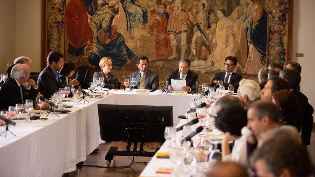 Pablo Navas en su última sesión de Consejo Superior