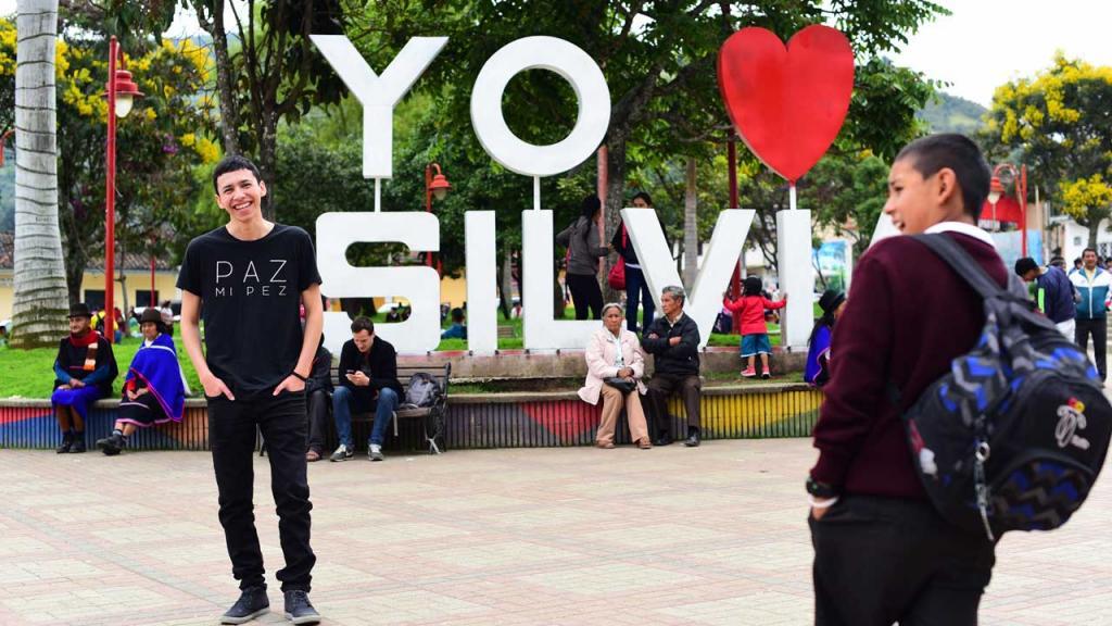 Foto de la Plaza central Silvia en Cauca