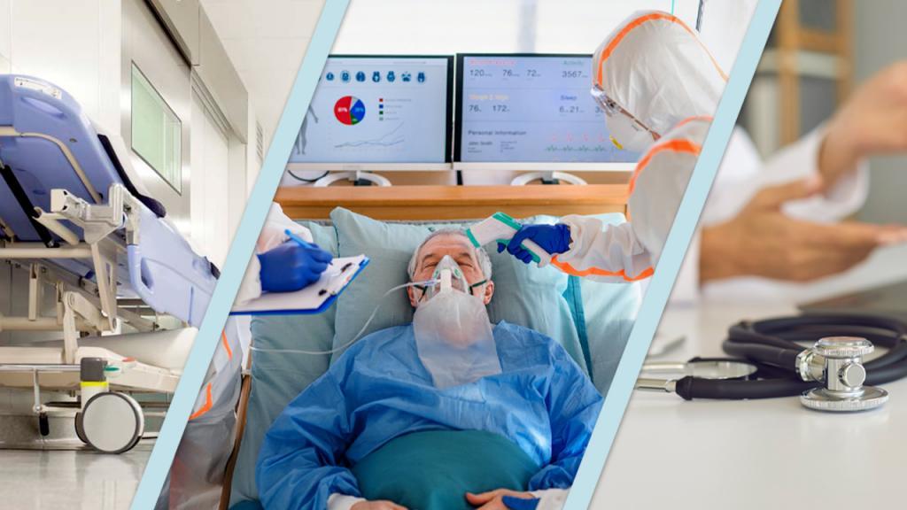 Foto de tres hospitales