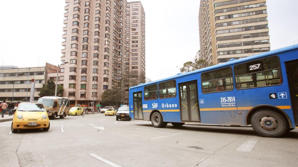 Bus de servicio público en Bogotá
