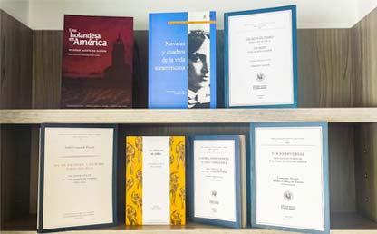 Foto de los libros de Soledad Acosta de Samper