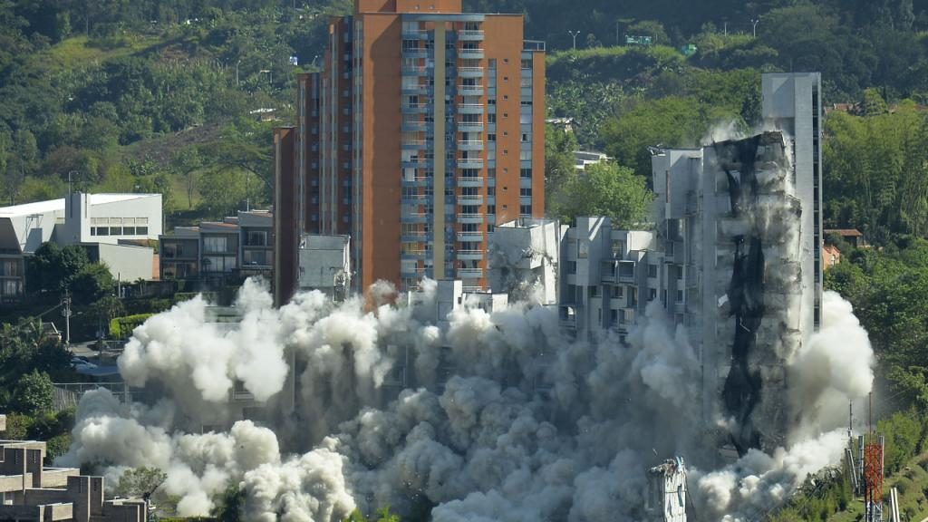 Desplome del edificio Space en la ciudad de Medellín