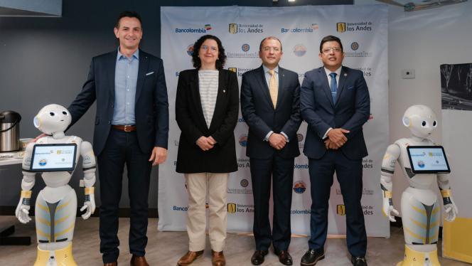 Grupo de personas en el evento de Bancolombia sobre inteligencia artificial