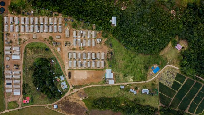 plano cenital de proyectos en zona rural