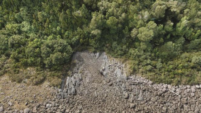 Plano cenital de zona volcánica