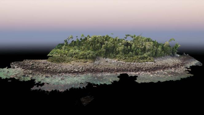Plano frontal de la zona volcánica