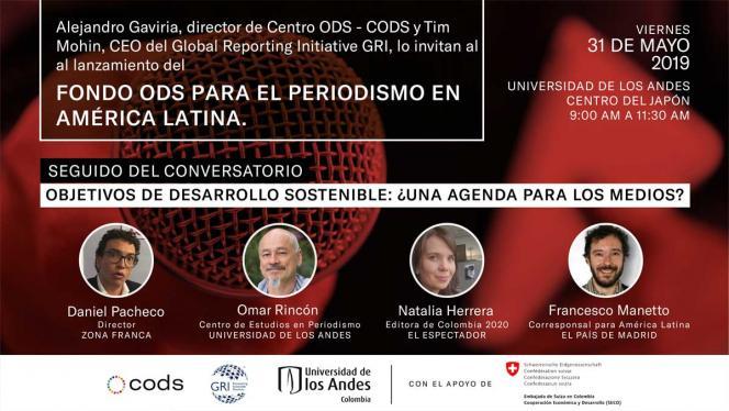 Banner del evento fondo ODS para el periodismo en América Latina