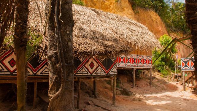 Foto de lugar donde viven indígenas Tikuna