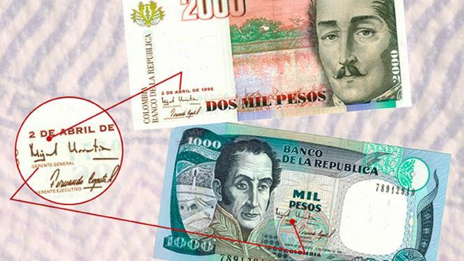 Imagen de billetes de 2000 mil pesos
