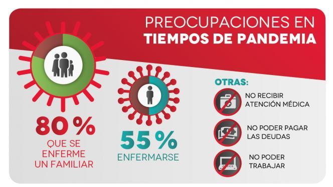 Infografía sobre preocupaciones en tiempos de pandemia