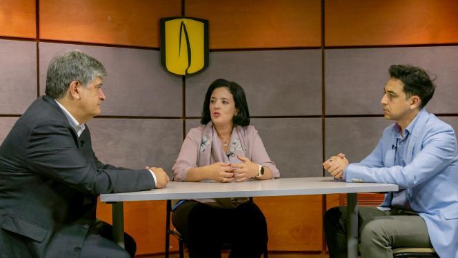 Foto de Óscar Alberto Bernal, Catalina González Uribe yRodrigo Moreno-Serra