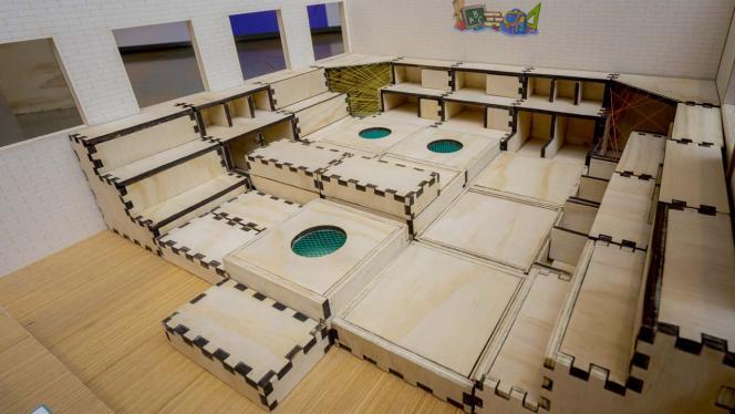 Diseño de escaleras en madera con modulados